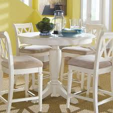white round pedestal dining table. Dining Room : Interesting Camden White Counter Height Pedestal Table Simple Forms And Traditional Design References Gentle Curves Time Worn Finish Round