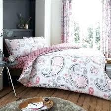 gray paisley bedding blue kantha embroidered ishani quilt grey ikea print