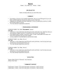 Chronological Order Resume Template Chronological Resumes Sample Templates  And Examples Templates