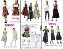 Apron Dress Pattern Gorgeous BURDA SEWING PATTERN DIRNDL APRON DRESS BLOUSE GERMAN FOLKWEAR