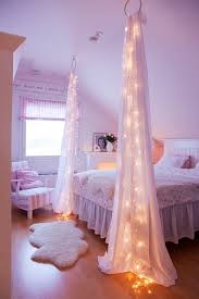 starry bed post diy string lights to decorate your rooms diy projects