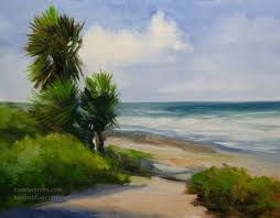 la jolla palms seascape oil painting by karen winters artist