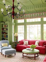... The combination of green and red gives this room ...