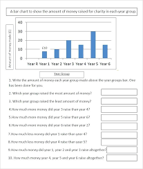Charity Bar Graph Worksheet Template Weight Loss Chart Printable ...