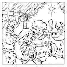 Free Printable Nativity Coloring Pages Manger Scene Coloring Page
