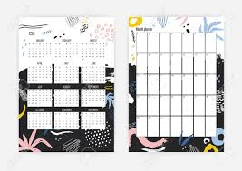 Yearly Calendar Planner Template Collection Of 2019 Year Calendar And Monthly Planner Templates