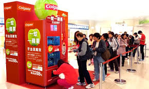 Marketing Vending Machines Custom Colgate Puts Experience At Core Of Green Apple Campaign Marketing