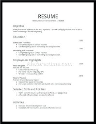 Resume Job History Order For A First Fresh Grad Education