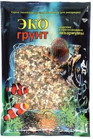 """Грунт для аквариума <b>ЭКОгрунт</b> """"<b>Феодосия</b> №0"""", <b>галька</b>, 1-3 мм, 1 кг"""