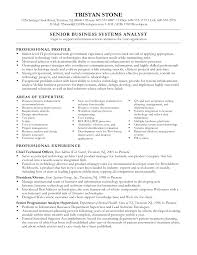 Cover Letter Resume Template For Business Analyst Sample Resume
