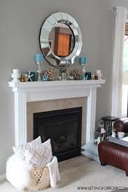 See this #QuickandEasy Living Room Makevover - Fireplace Mantel Decor like  the fireplace decorations,