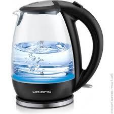 Черный <b>чайник</b> 1.7 л Polaris PWK 1787CGL - обычный стекло