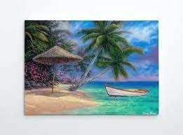 outdoor canvas art. Tropical Canvas Wall Art Painting Paradise Beach Large Palm Tree Ocean Drift Away By Chuck Outdoor