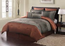 rust colored comforter sets. plain comforter 8 piece queen madden rust and taupe comforter set by kinglinen 7999  give your in colored sets