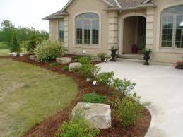 Landscaping ideas with rocks, front entrance landscaping plans ...