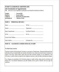Employee Clearance Form Classy Employee Clearance Form Format Clearance Certificate Job Sample