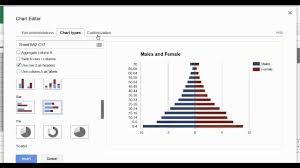 Population Pyramid Updated Using Google Sheets
