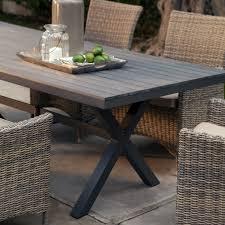 belham living bella all weather wicker 7 piece patio dining set seats 6 hayneedle