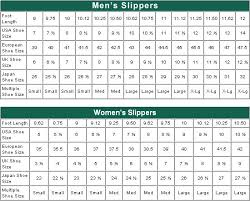 Womens Slipper Size Chart Womens Slipper Size Chart Sizing Chart Crochet