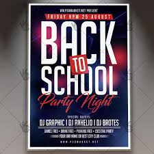 Back To School Party Flyer Psd Template