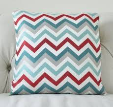 red and teal pillows. Brilliant Red 2500 Designer Pillow Cover  Modern Turquoise Aqua Teal Red Grey Jacquard  Zig Zag Chevron Throw For And Pillows