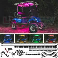 Golf Cart Underbody Lights Details About Ledglow Million Color Led Golf Cart Underglow Canopy Wheel Interior Lights Kit