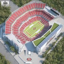 3d Model Of Levis Stadium Model