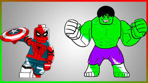 Small Picture LEGO Hulk and Spiderman Coloring Page LETs COLOR Part 2