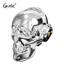 ∞Gute Nano AeroSkull <b>Skull Head</b> Speaker dazzle LED flame ...