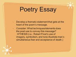 how to approach ap lit essays ppt video online  poetry essay develop a thematic statement that gets at the heart of the poem s message