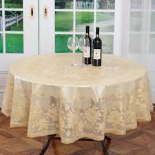 fl plastic tablecloth diameter 180cm gold wedding pvc table cloth embossing fl round lace tablecloth waterptoof