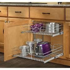 image of kitchen cabinet organizers slides