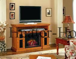 oak fireplace entertainment