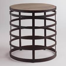 rustic round end table. Amazing Abelena Silver End Tabl On Rustic Half Round Hall Coma Frique For Table E