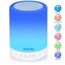 Light Speaker Homecube Bluetooth Speaker Lamp Portable Bedside Lamp With Touch Dimmable Mood Night Light Gift For Women Men Teens Kids