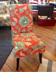 also today s trend often pairs slipcovered parsons chairs