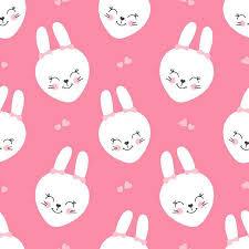Cute Baby <b>Pattern</b> With Little Bunny. <b>Cartoon Animal</b> Girl <b>Print</b> ...