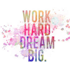 Quotes About Dreaming Big And Working Hard Best of Work Hard Dream Big Modern Watercolor From MadamePrint On Etsy