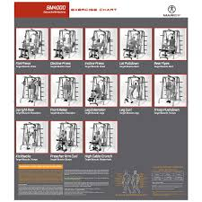 Md 9010g Exercise Chart Marcy Sm4000 Deluxe Smith Machine Home Gym With Weight Bench