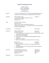 Chronological Resume Template Medmoryapp Com