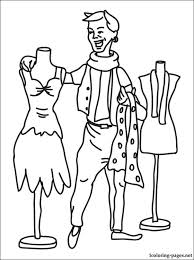 Small Picture Fashion designer coloring page Coloring pages
