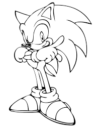 Small Picture Sonic The Hedgehog Coloring Page Sonic X Coloring Pages for Kids