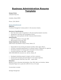 Best Solutions Of Business Administration Objective Resume Example