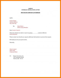 Business Letters Sample Letter Of Cancellation Contract Concept