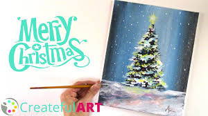 Simple Christmas Designs To Paint How To Paint A Christmas Tree With Acrylics
