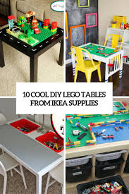 cool diy lego tables from ikea supplies cover