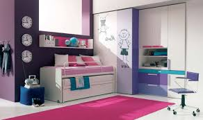 Tween Girl Bedroom Decorating Ideas L Shaped White Finish Solid Wood