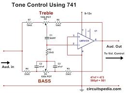 bass treble tone controller circuit