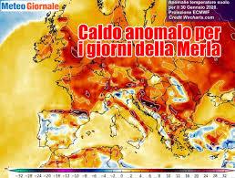 GIORNI DELLA MERLA, il caldo anomalo impazzerà in modo ...