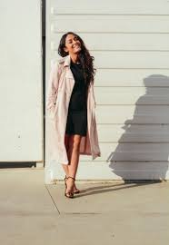 imlvh rocking an athleta tulip dress with forever 21 trench and stuart weitzman nudist sandals